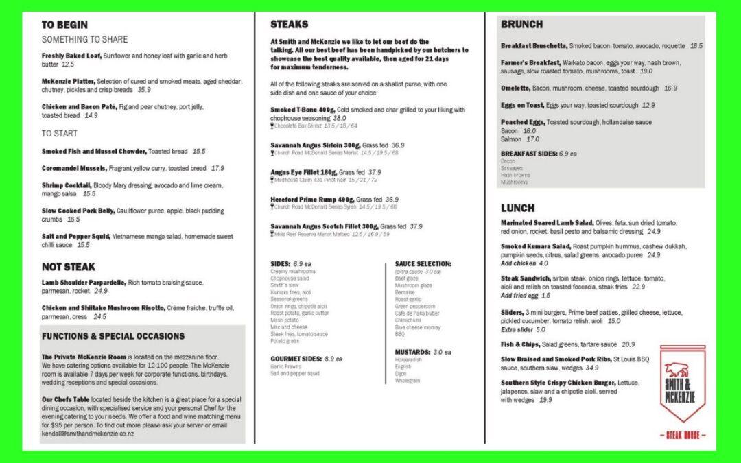 Smith & McKenzie Restaurant Hamilton Review