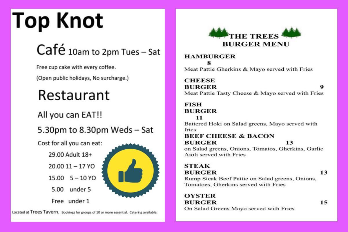 Trees Tavern Tokoroa: Pokies, Bars, Hours, Food Menu, Map & Address.